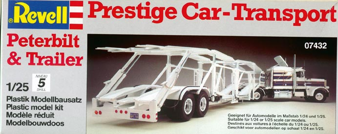 7432 Peterbilt 359 Prestige Car Transport Revell 1-25