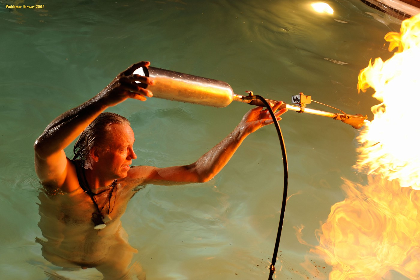 Flaming the Water