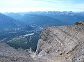 Looking down summit ridge