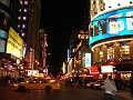 Perspective view  of 42nd Street. The Wax museum  on the left.