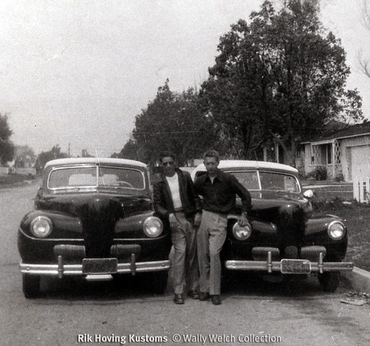 Wally Welch Scrapbook two-41Fords-vi