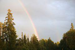 Rainbow over Gunflint Trail