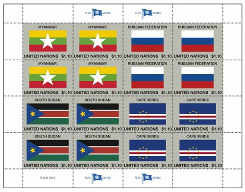2013 UN FLAGS 1 10 NY SHEET
