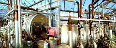 The Heating boiler, and the water circulation pumps