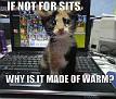 Warm laptop