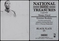 2012-13 Flawless National Treasures Printing Plate Black #044