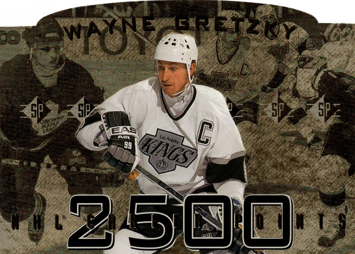 1995 Upper Deck Authenticated Wayne Gretzky NHL 2500 Points SP (1)