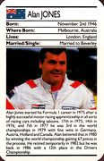 1987 Ace Fact Pack Alan Jones