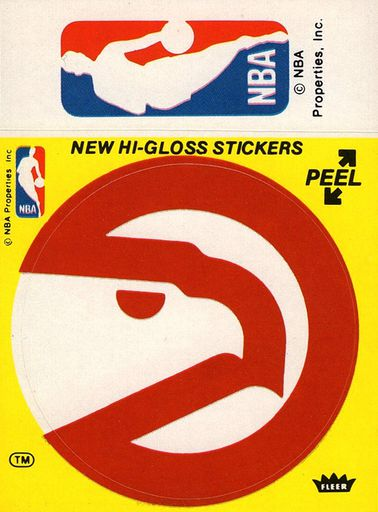 1976-77 Fleer NBA Logo Stickers Atlanta Hawks (1)