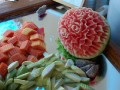Carved Mellon at Breakfast