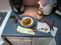 "Now it's time to heat it up.  I used the microwave for 2 minutes, then 1 more minute, then 2 more minutes, etc,,,  didn't want to kill the ""Haggis"""