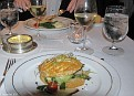 Mille Feuille of Baby Leeks & Asparagus, Champagne Sauce