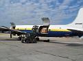 Unloading the plane