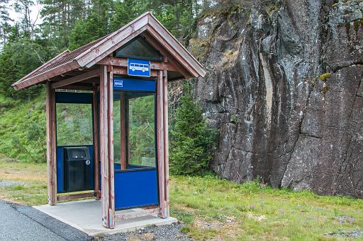 Bus stop in Norway