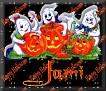 3 Ghosts & pumpkinJami