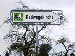Hinweis zur Radwegekirche Leopoldstal