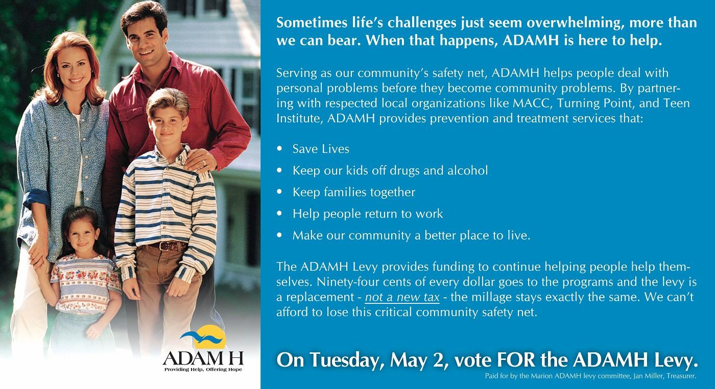 ADAMH Mailer 1 - Side 2