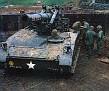 """8 Inch Howitzer at Ben Het - Name of the gun is """"Bad News"""""""