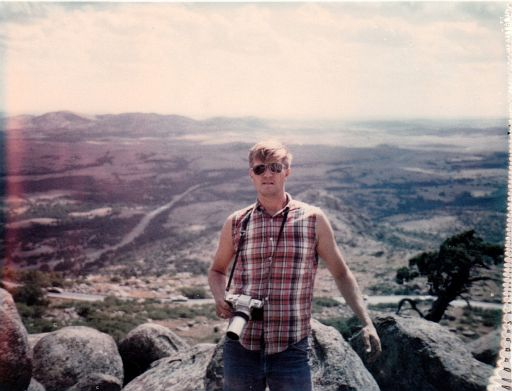 ERay on top of Mt. Scott, 1970