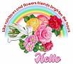 RainbowFlowersFriendsHello
