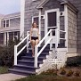 Cindy Downs at her family's quarters, Grosse Pointe, Michigan, 1964