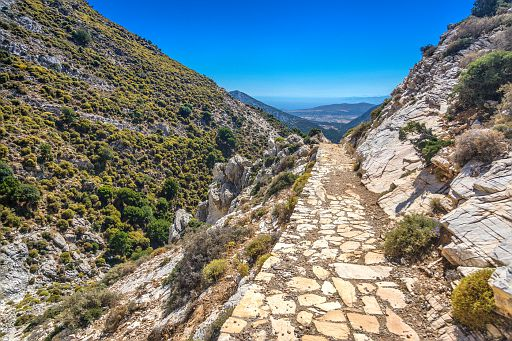 Path to Zeus' Childhood Cave