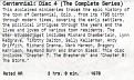 Centennial Disc 4 Label
