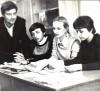 Там же. Слева направо: Борис Колымагин, Ирина Оснач, Лариса Шульман.