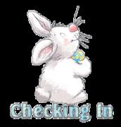 Checking In - HippityHoppityBunny