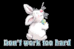Don't work too hard - HippityHoppityBunny
