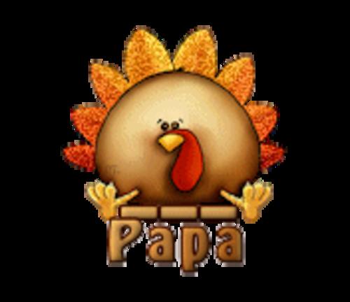 Papa - ThanksgivingCuteTurkey