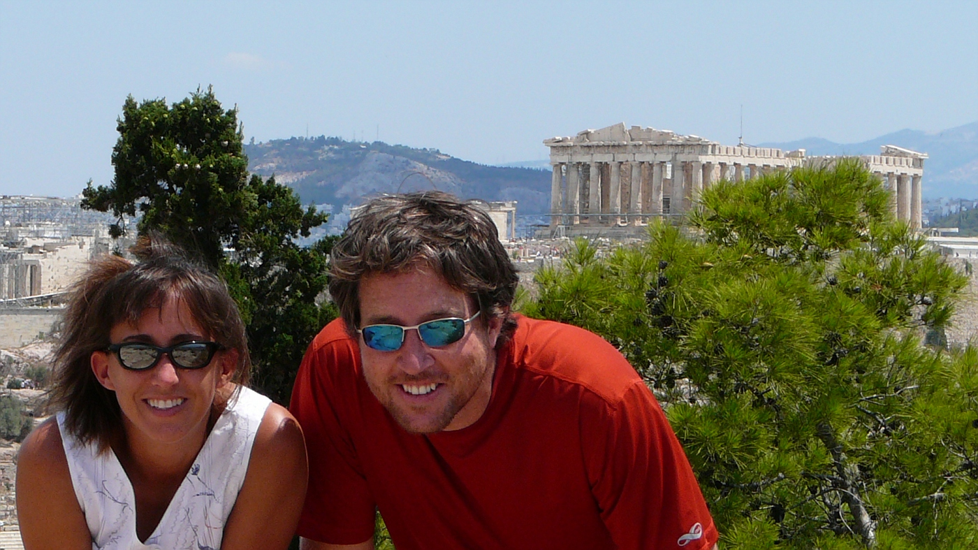 Us in front of the Parthenon