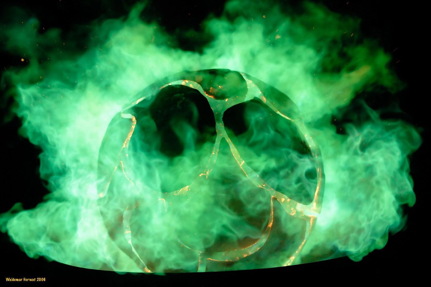 Enveloped in Green Fire