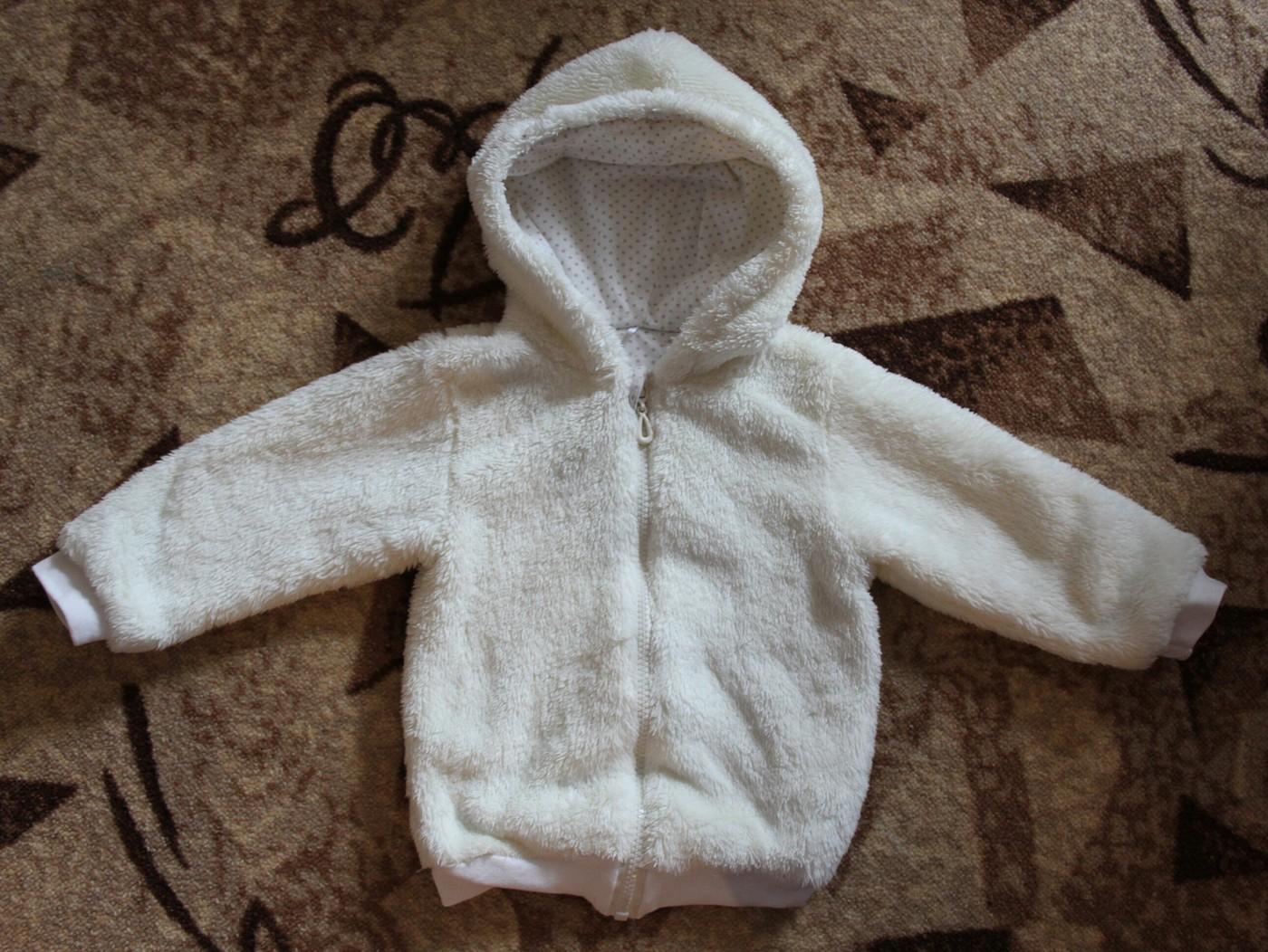 80-86р слегка утепленная пушистая кофта-куртка тонкий утеплитель + хлопковая подкладка состояние идеальное 500р