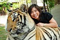 027) Cindy with adult tiger