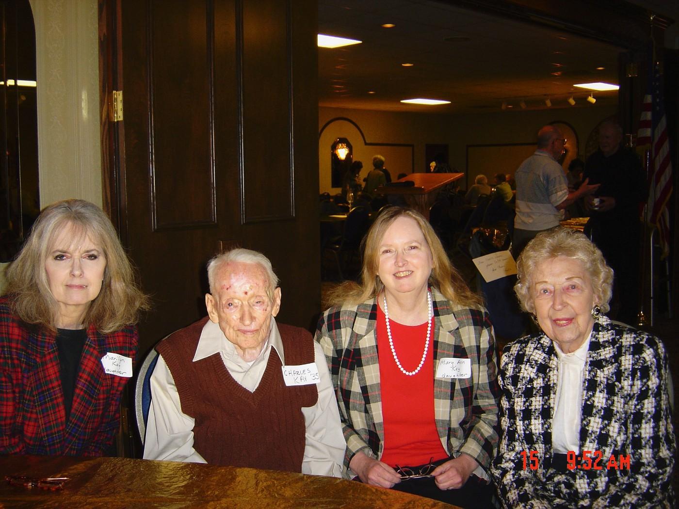 Marilyn & father, John Kay, Mary Bouas & Elvira Rebienne