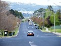 Looking down my street towards Mt Panorama