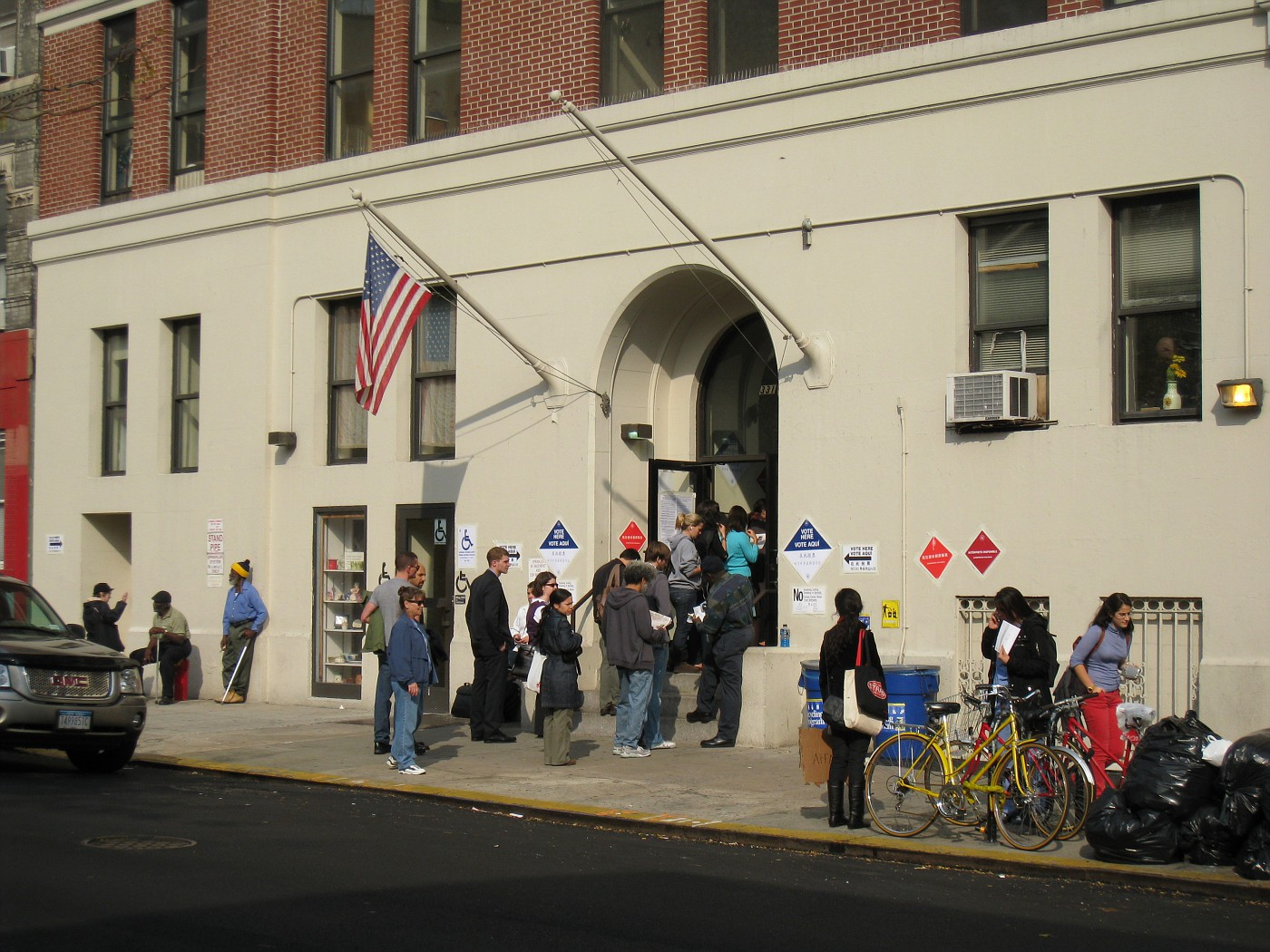 Sirovich polling site in the East Village