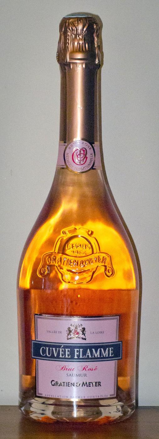 N V  Gratien & Meyer Saumur Cuvée Flamme Brut Rosé