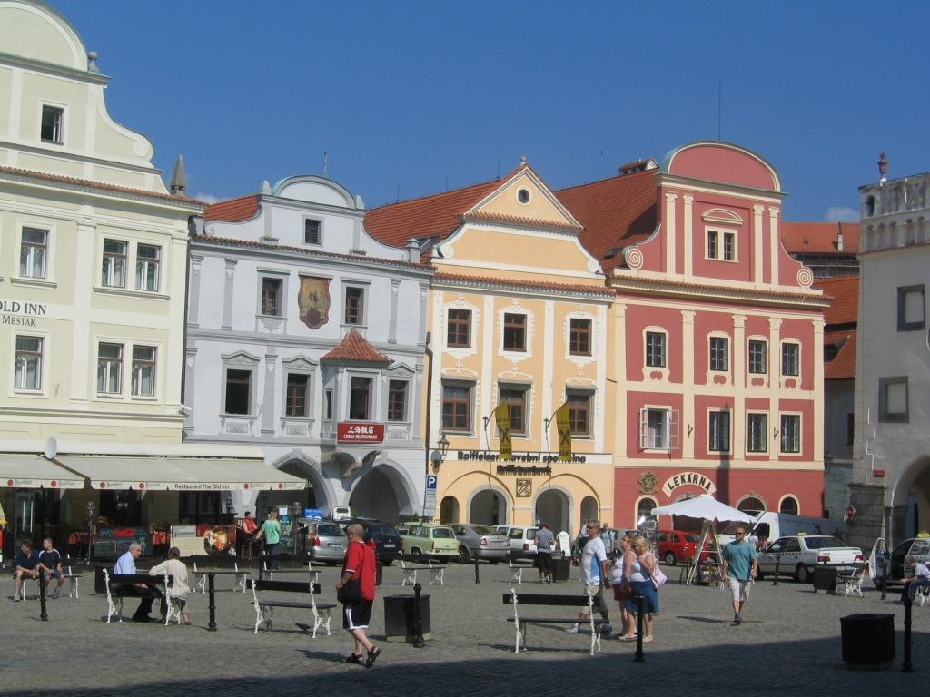 Main Town Square (Namesti Svornosti) Cesky Krumlov, Czech Republic - August 2004