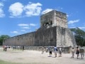 Right Side of Ancient Ball Court Chichen Itza, Yucatan Peninsula, Mexico.