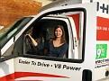 Alaina drives a truck pretty well!!!
