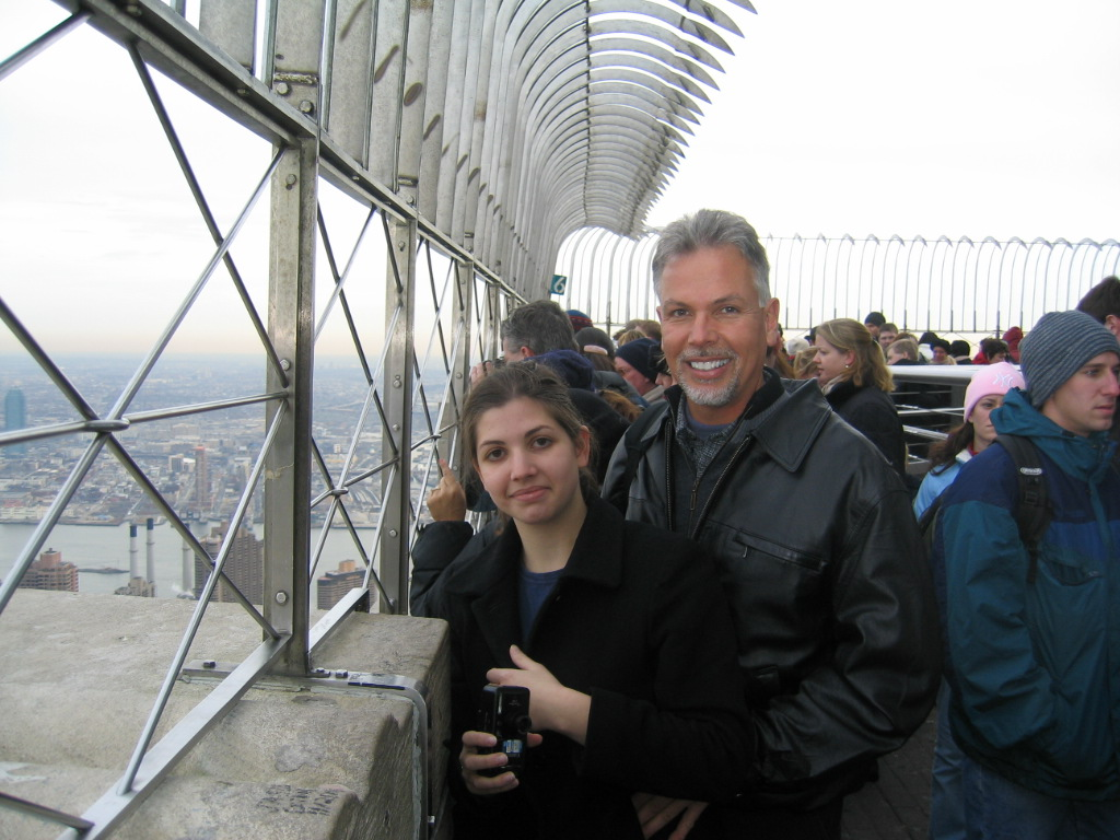 15  My Daughter Alaina and I at the Top of the Empire State Building!!!