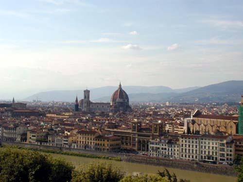 Фрески на куполе внутри - Виды на Флоренцию с Пиацца Микеланжело - 2