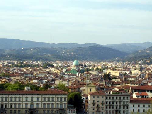 Фрески на куполе внутри - Виды на Флоренцию с Пиацца Микеланжело - 3