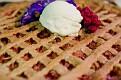 Rhubarb Pie with homemade ice cream