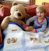 Atticus with his quilt
