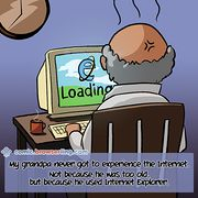 Grandpa and Web - Weekly comic about web developers, software and browsers