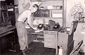 """1971-1972 - SGT. Don Wilkerson pretending to be doing """"my"""" job, as Radio Repairman."""