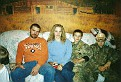 L TO R JR HIS WIFE LISA & THEIR SON'S CALEB & BRANDON